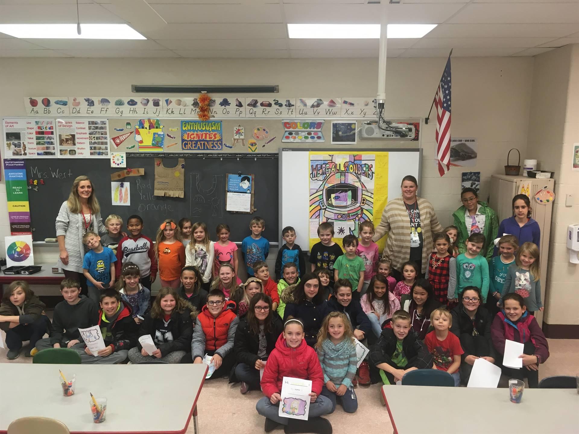 6th Grade and Kindergarten Book Buddies