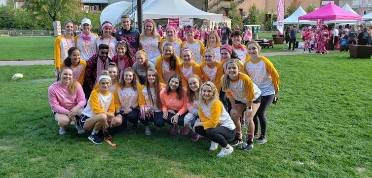 Key Club in Strides Against Breast Cancer Walk.