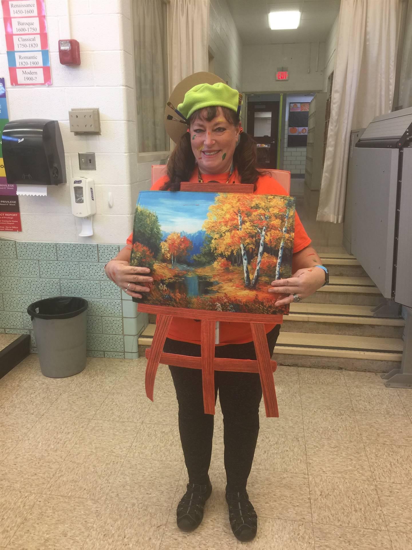 Our Art Teacher in Costume