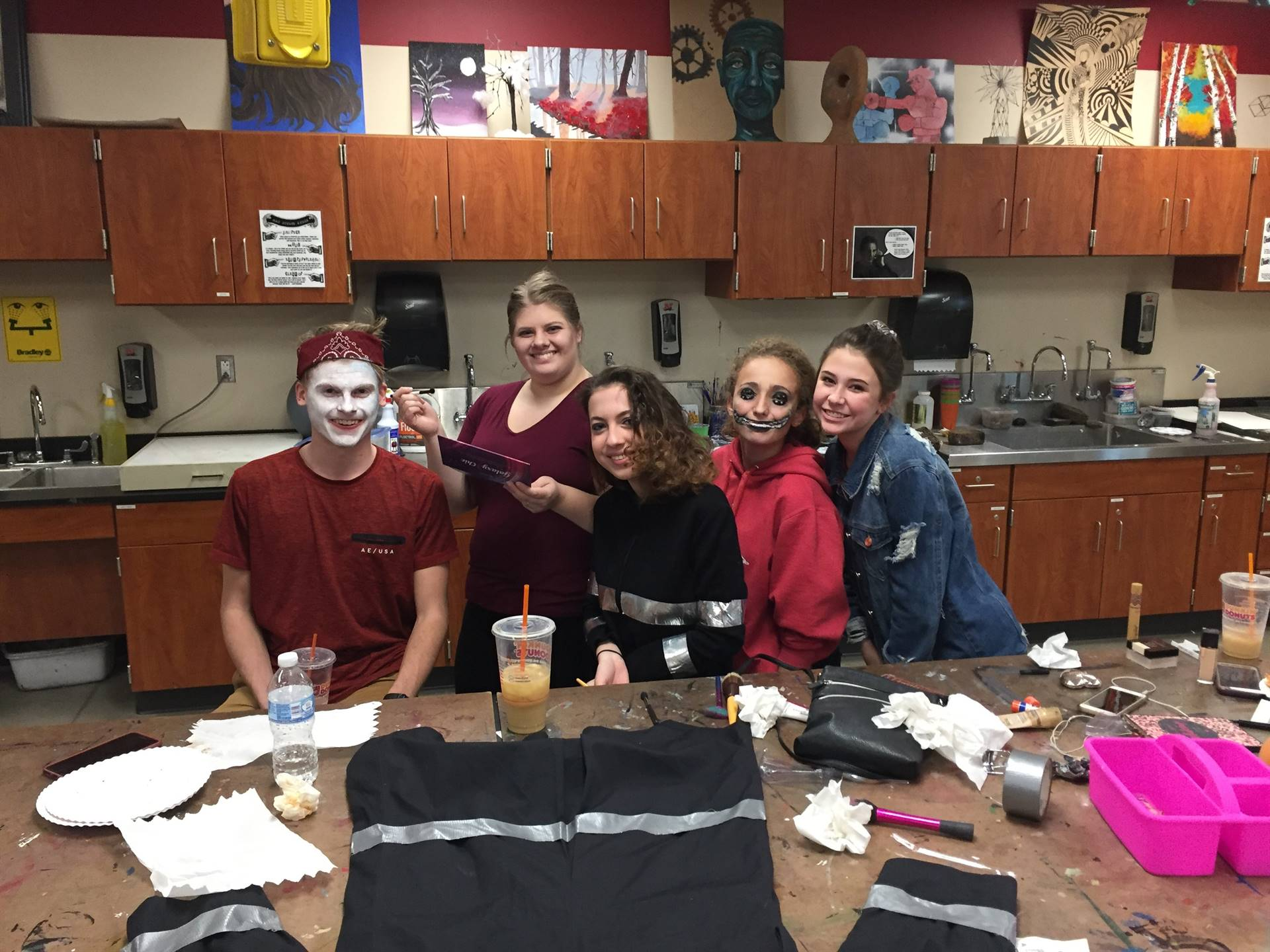 Art Club Students Preparing for the 8th Annual Spooktacular