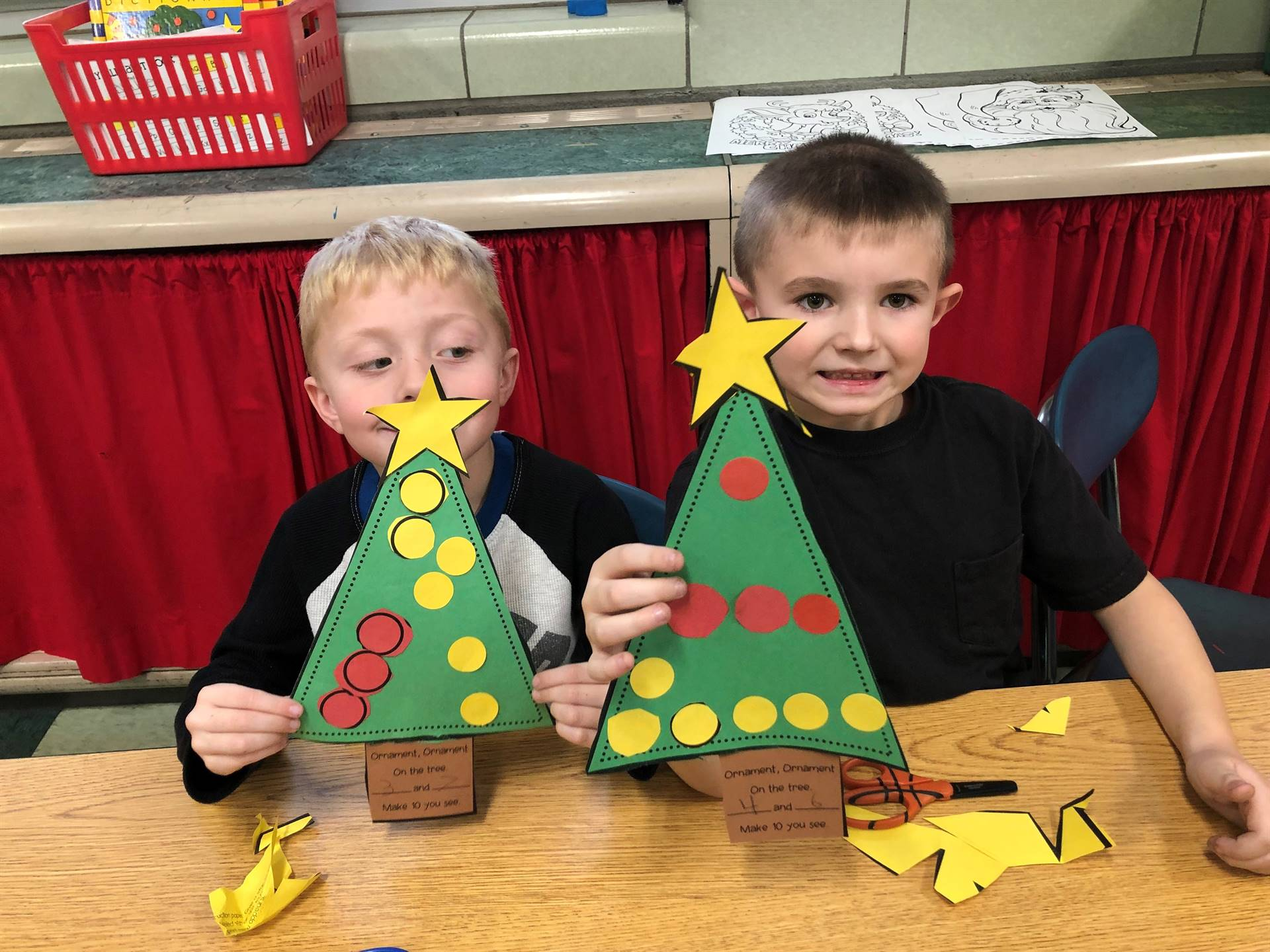 Mrs. Mattle's students are showing off their December math skills.