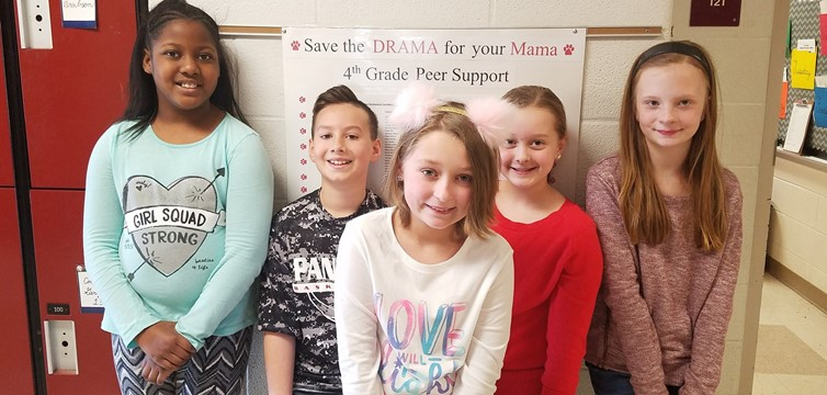"Over 100 4th graders joined founder Skylar in ""Save the Drama for Your Mama"" Peer Support Network."