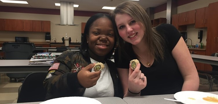 Mrs. Barnhart's Global Foods students are trying sushi for the first time!