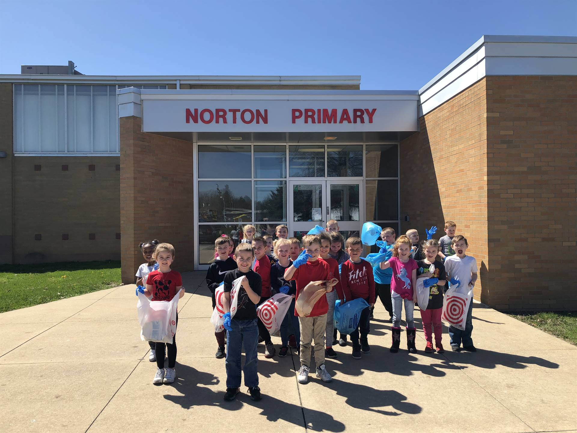 Mrs. Mattle's class helped Norton's Primary stay clean in honor of Earth Day!