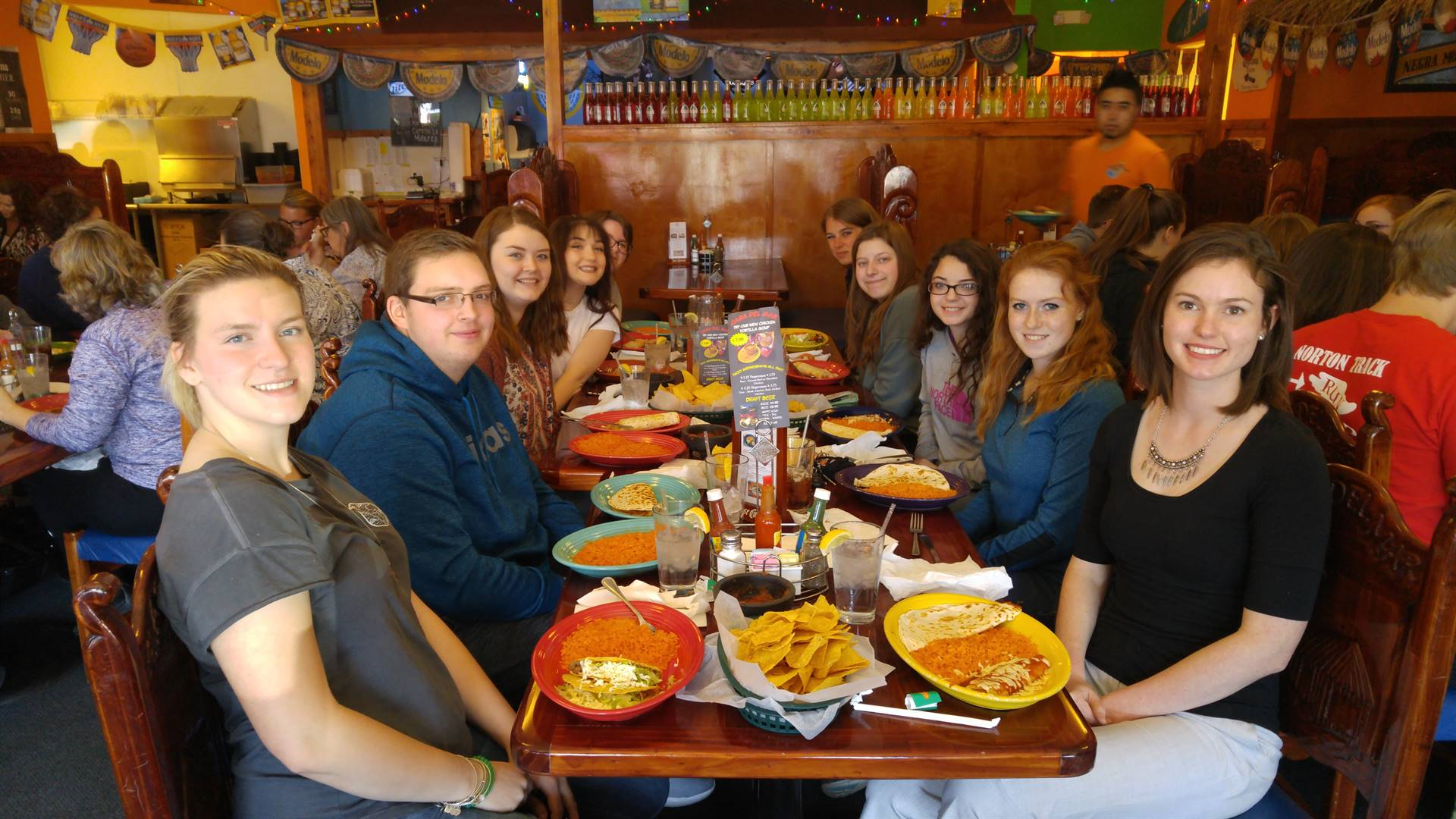 Spanish 4 field trip to Casa Del Mar. Students spoke in Spanish the entire time, both to the waiters