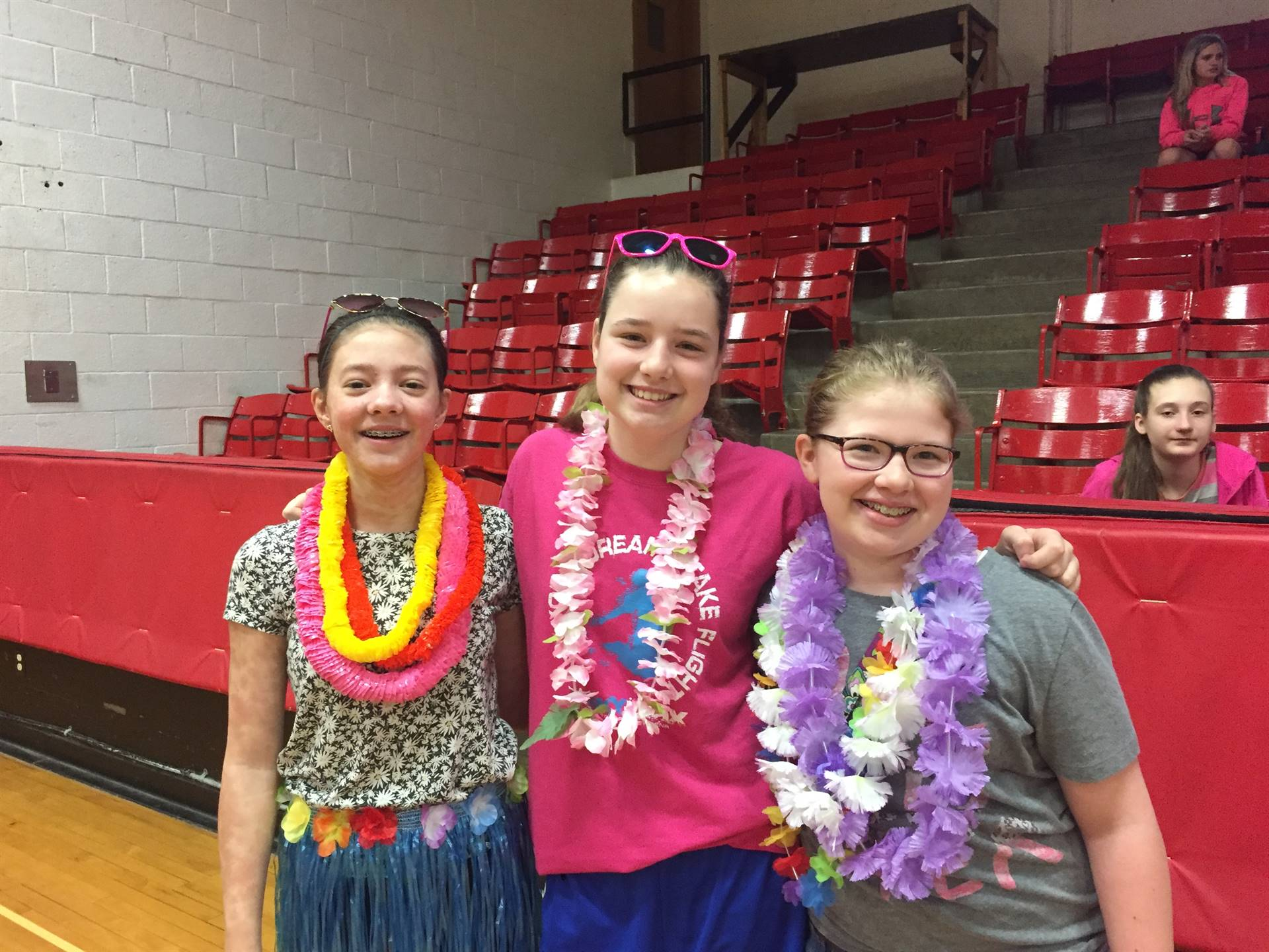 Students count down to the end of the school year by celebrating Hawaiian Day.