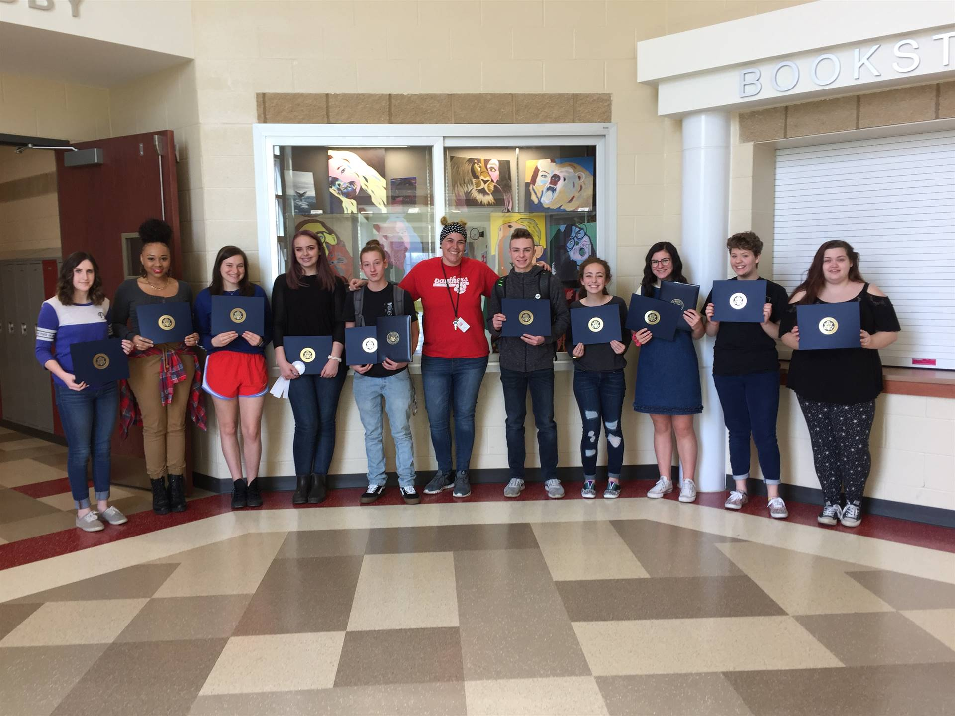 NHS Congressional Art Show Participants Receive Their Awards