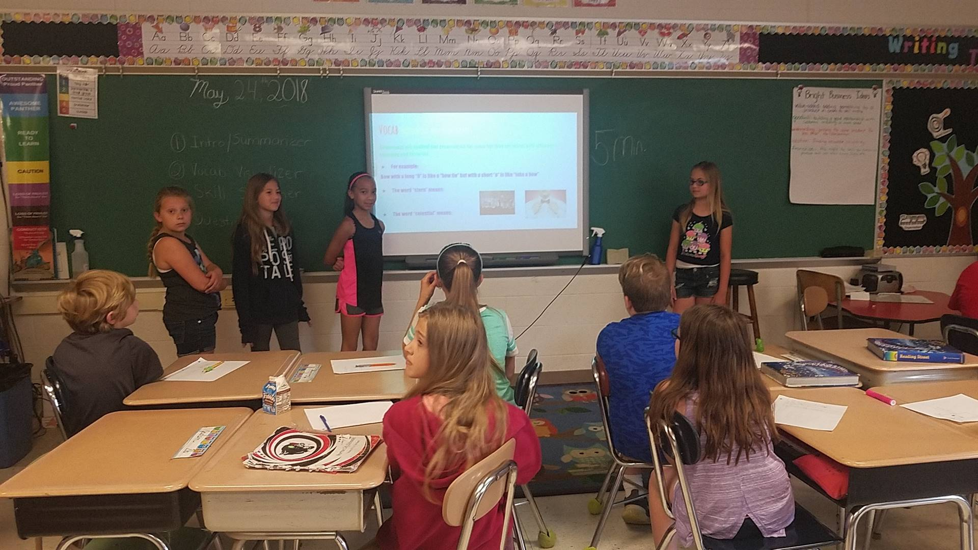 Fourth Graders Being Teacher for the Day