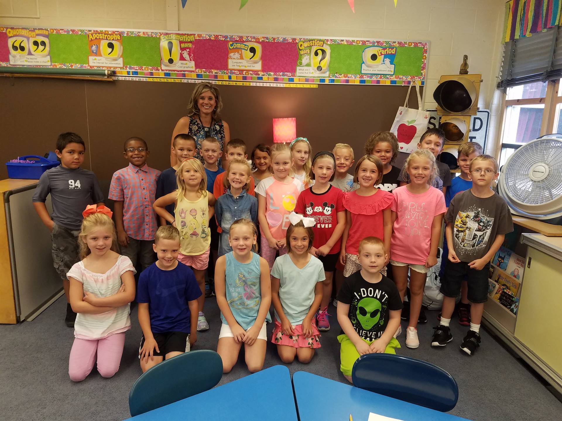 Mrs. Camilletti's class is ready for the new year!