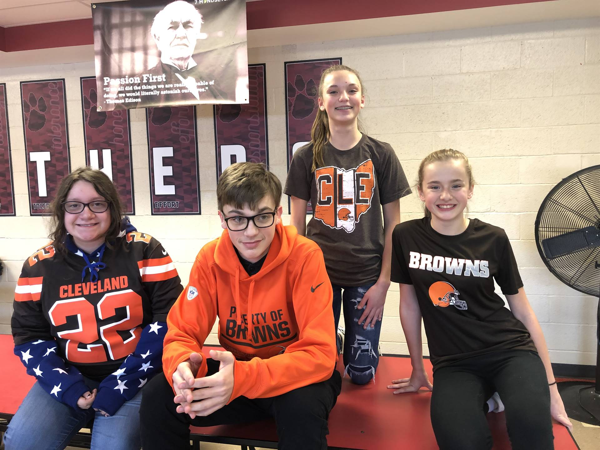 8th grader Browns Backers!