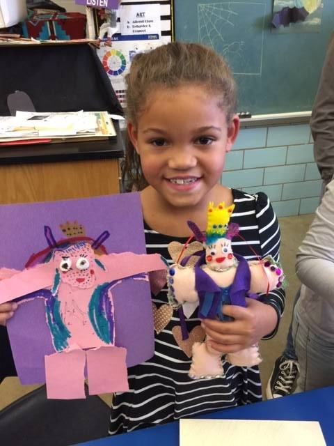 NHS Students Create Hand-Sewn Toy Versions of NES Torn Paper Collage Monsters!