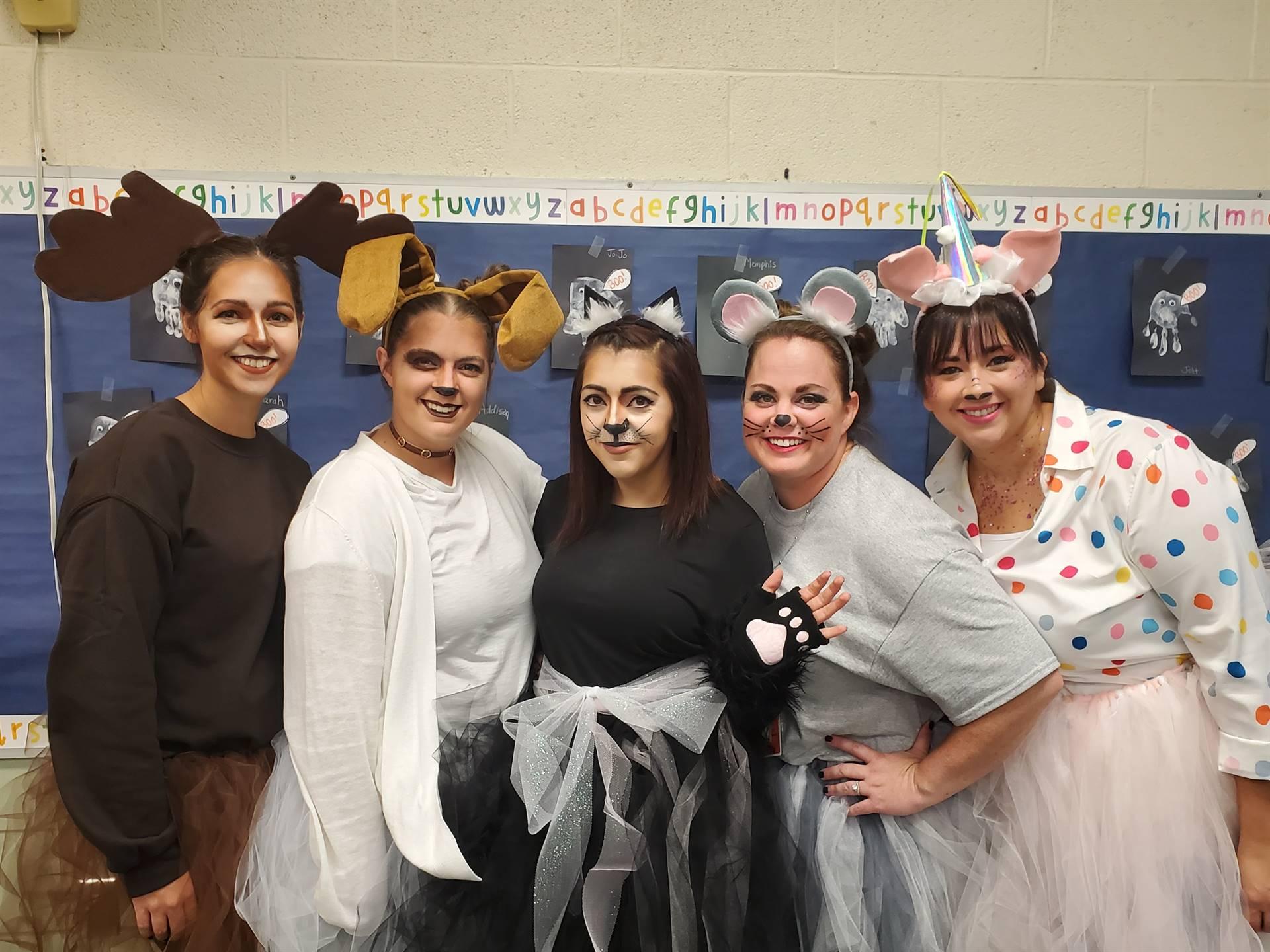 Preschool Team as Laura Numeroff Book Characters!
