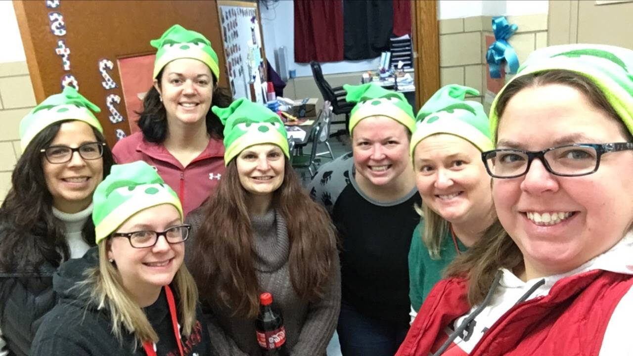5th grade team feeling the holiday spirit!