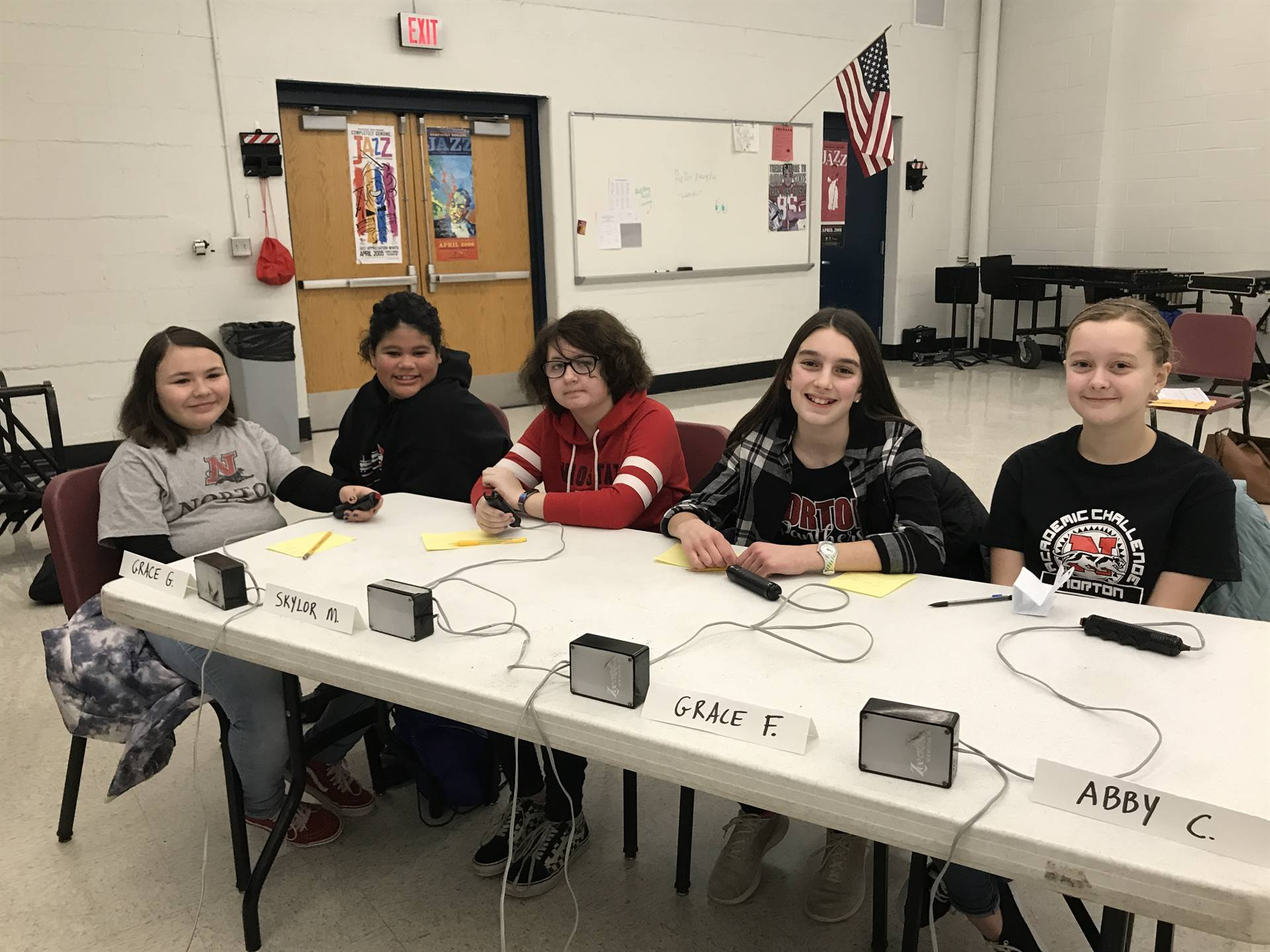 Our Academic Challenge Team ready to compete!