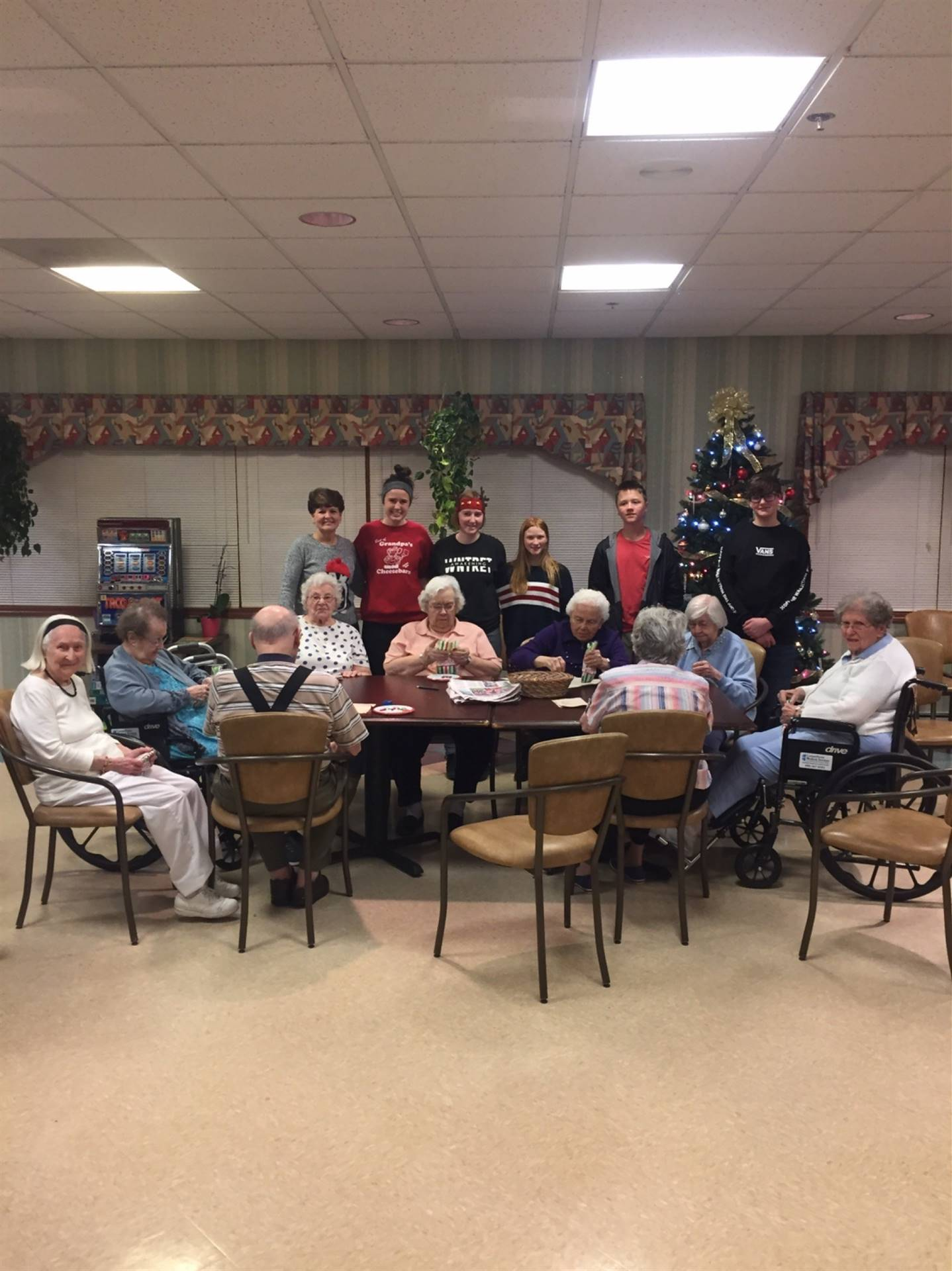 Key Club Visiting Pleasant Point Assisted Living