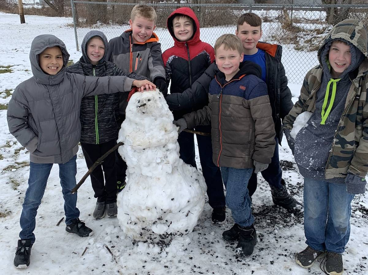 It's a great day to build a snowman!