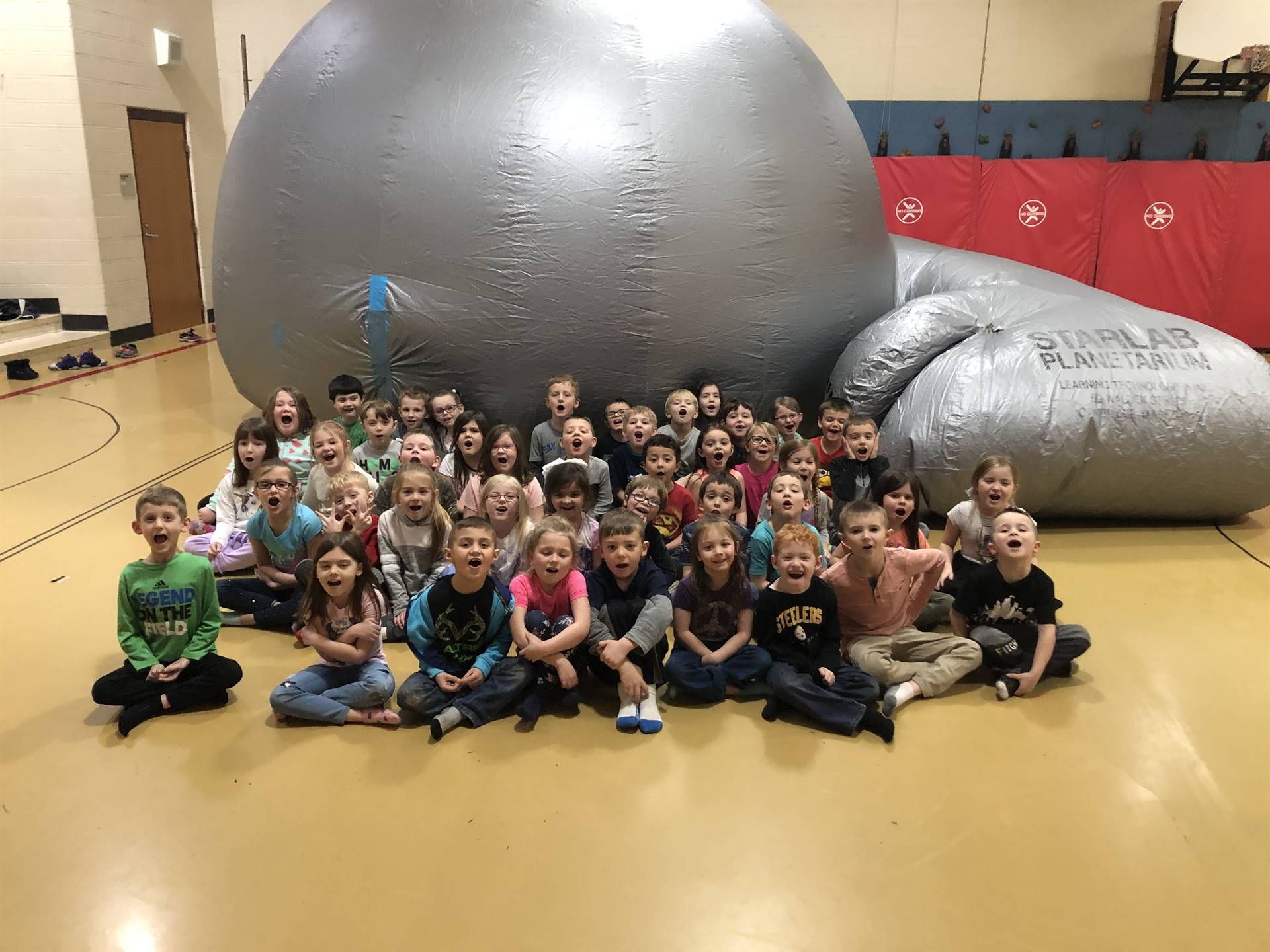 Kindergarten students were able to use a Star Lab thanks to Mr. Havens.