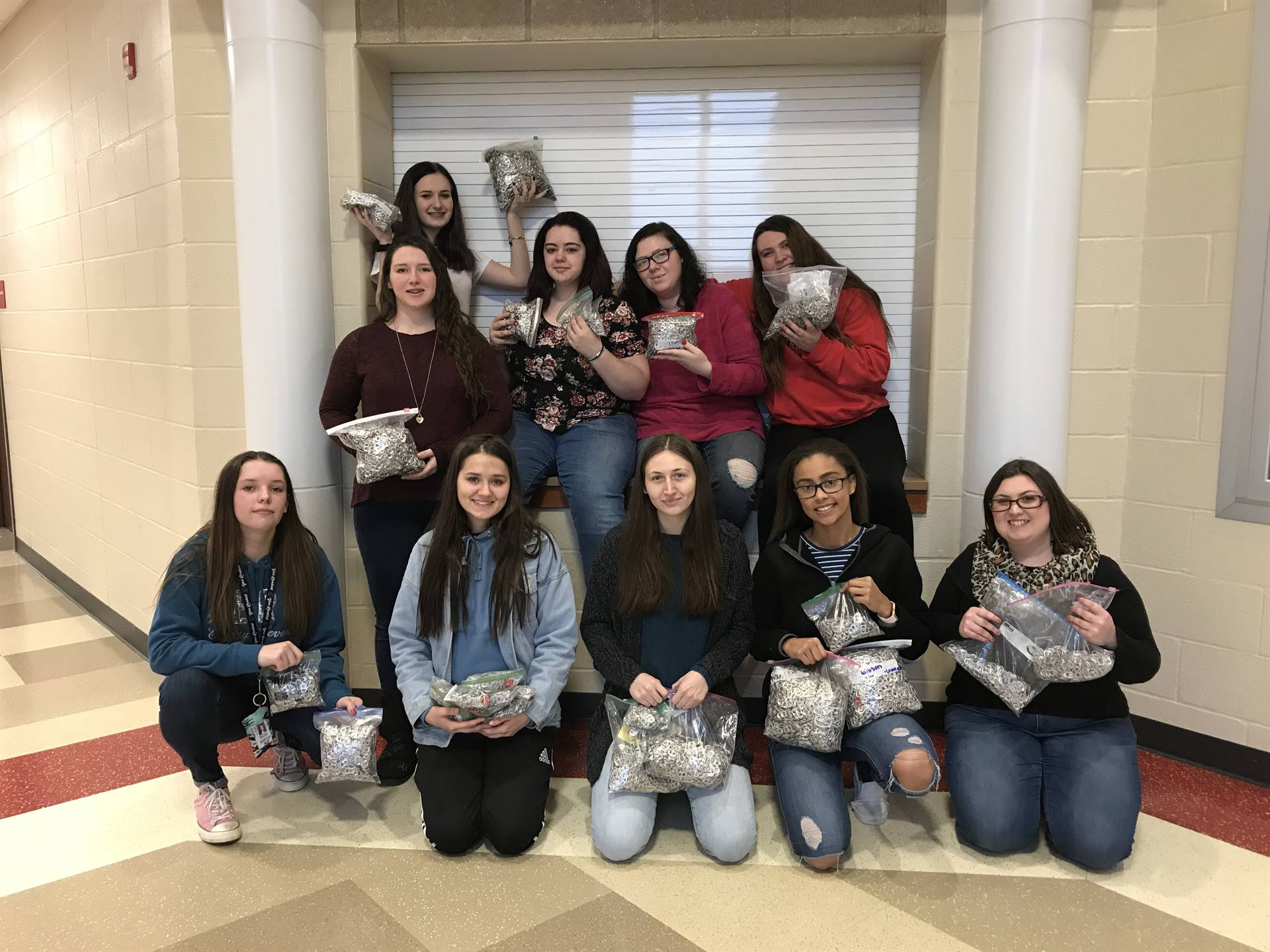FCCLA collected 57,728 pop tabs to benefit The Ronald McDonald House.