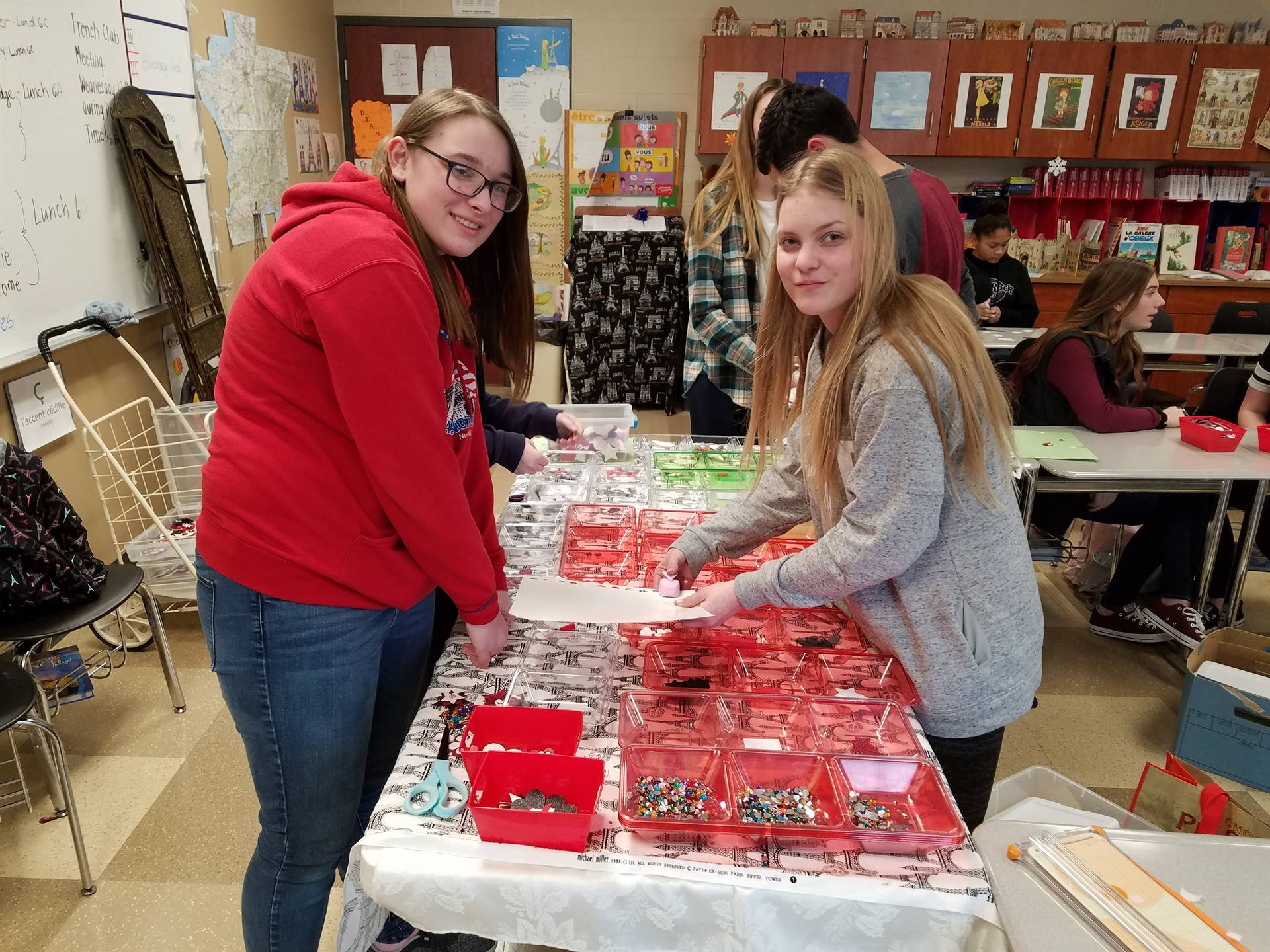 French Students Handcrafting Magnets to Fund Raise for Orphans in Haiti