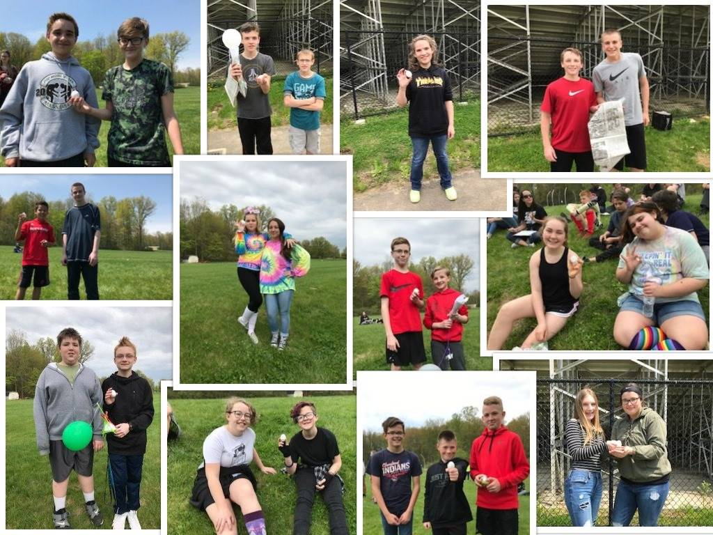 7th graders' Egg Drop Devices were a success!