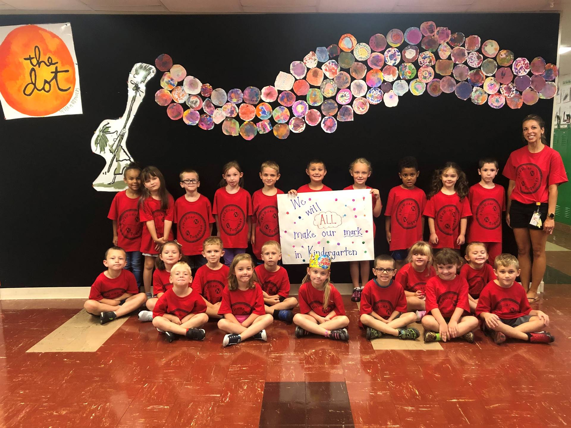 "Mrs. Mattle's Class on ""We Roar.  Together."" Day"
