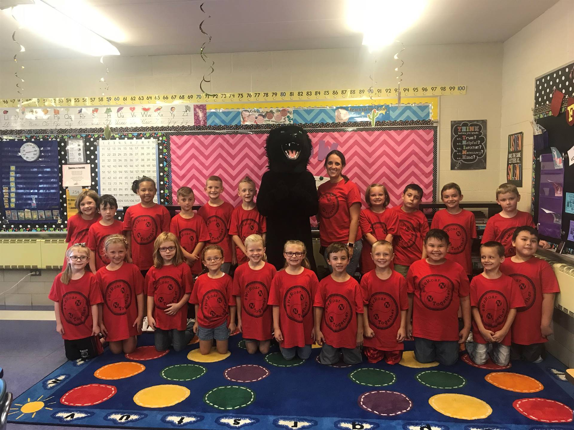 """Mrs. Myers Class on """"We Roar. Together."""" Day"""