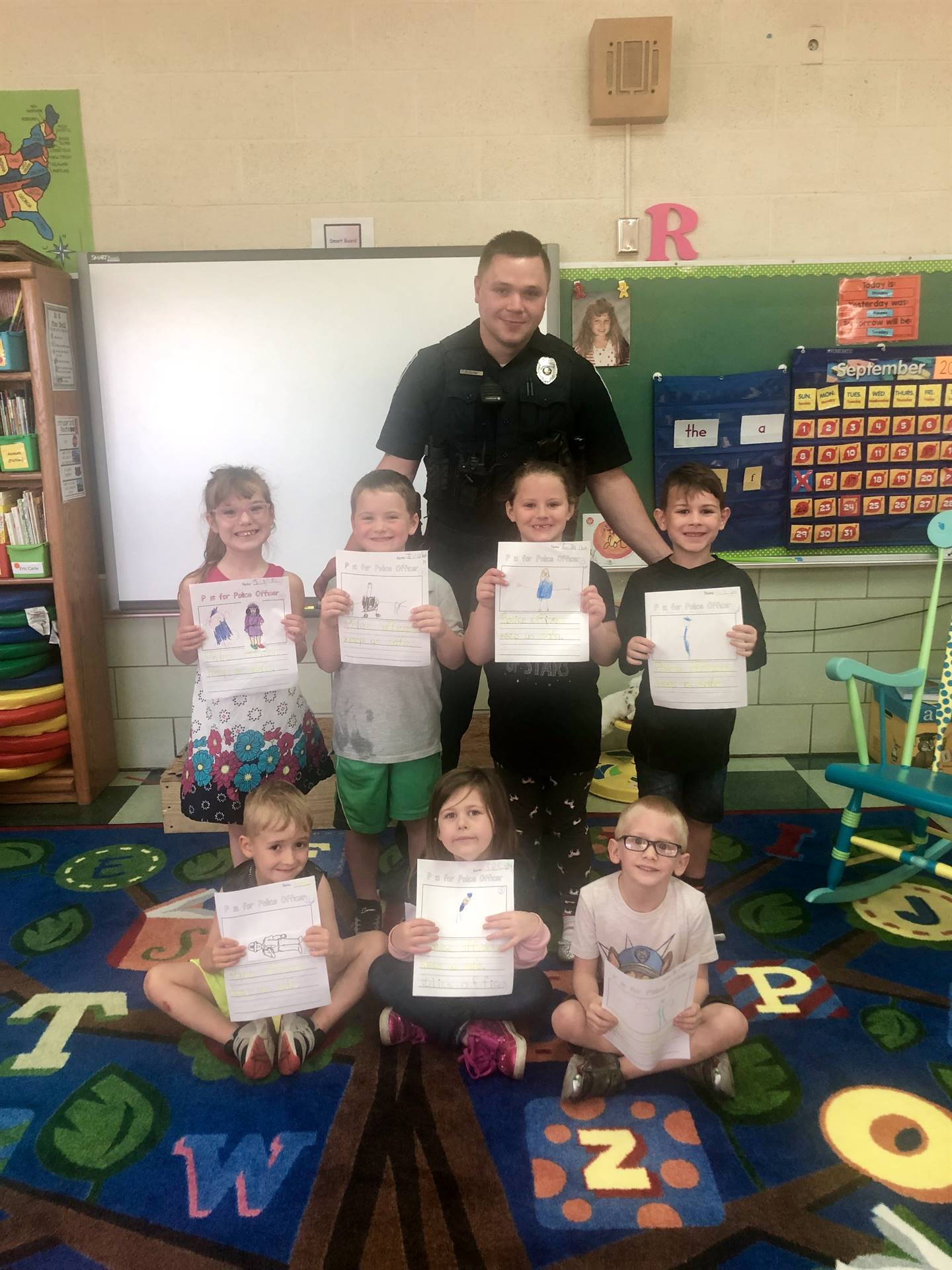 Kindergarten students are learning about community helpers!