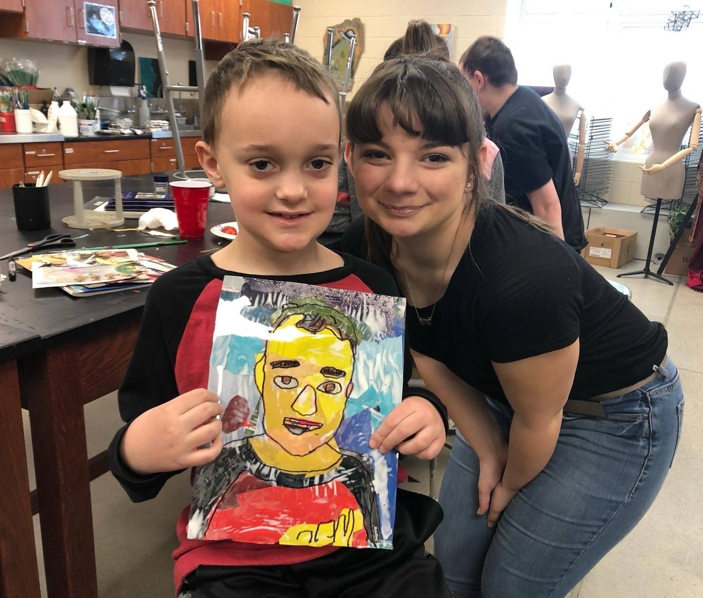 NHS Art Helps with Liv Thru Art for Children Cancer Survivors and Fighters.