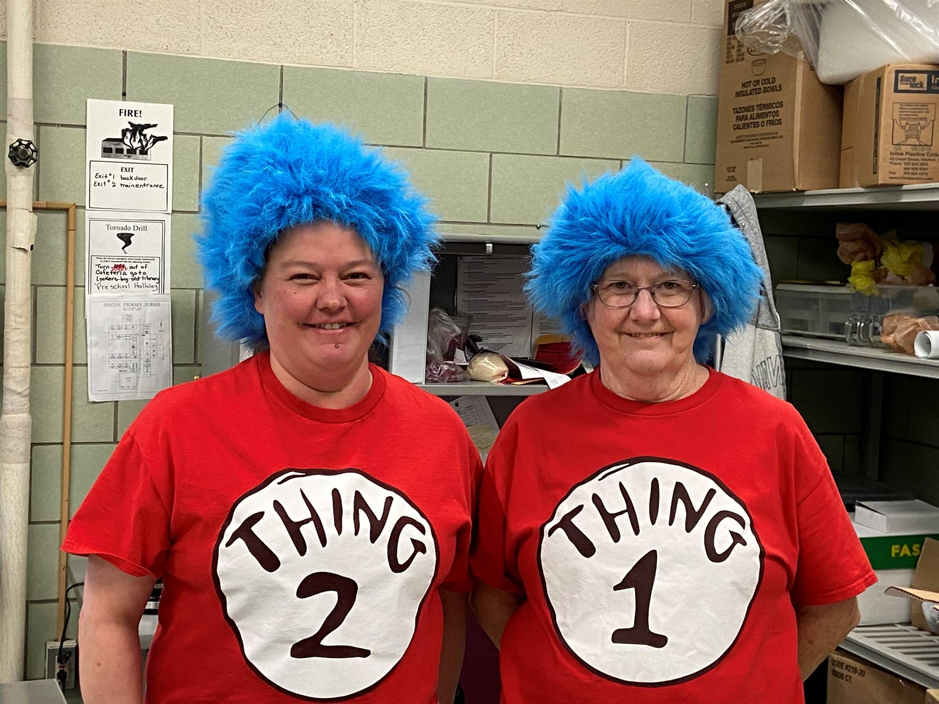 """Primary's Miss Miller and Miss Bonnie  are an important part of Dr Seuss' """"Read Across American week"""