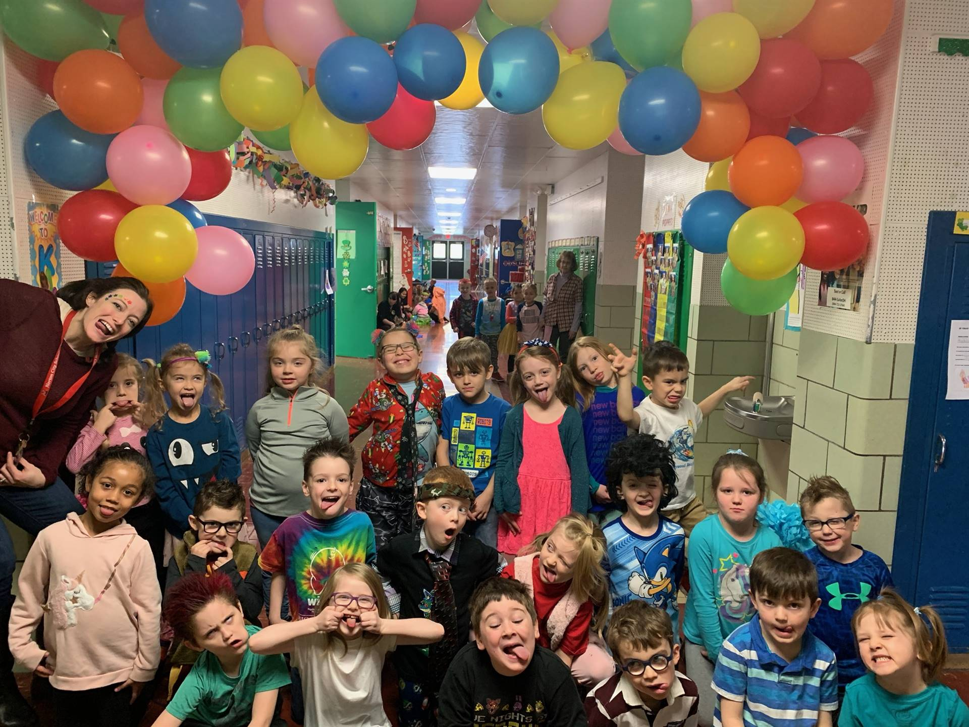 Kindergarten gets ready for a fun Wacky Wednesday!