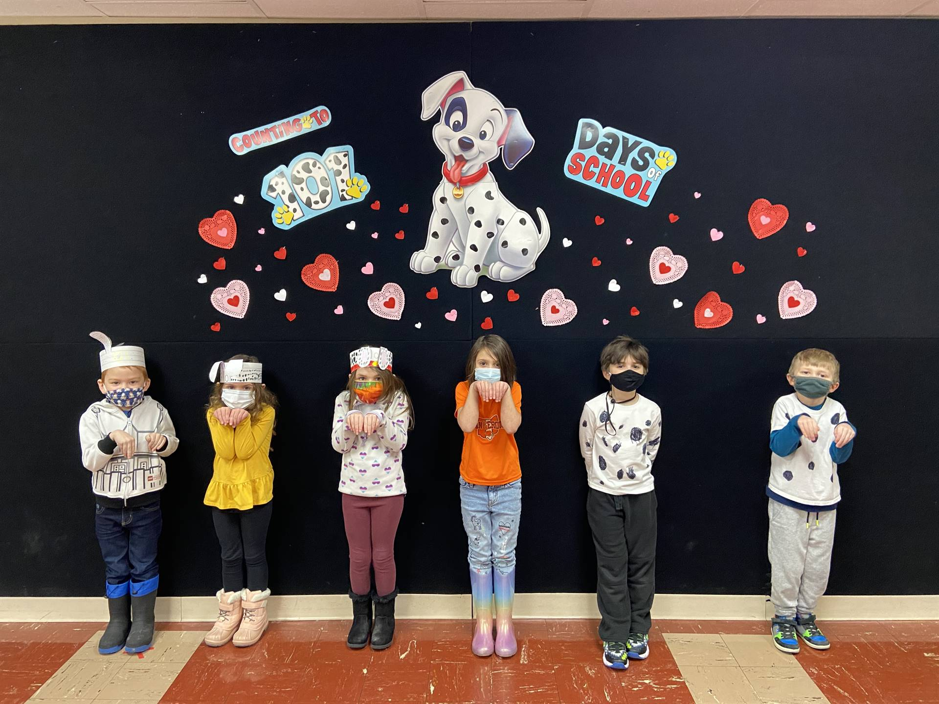 """101 Days of Kdg. Learning Fun! We can now read words like """"dog, dot and spot!"""""""