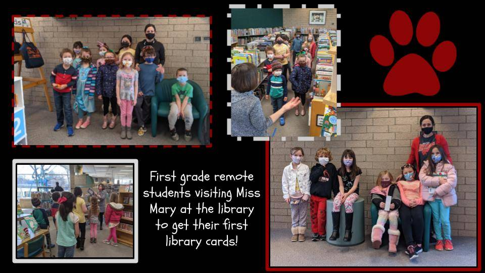 First Grade Class Visits the Library