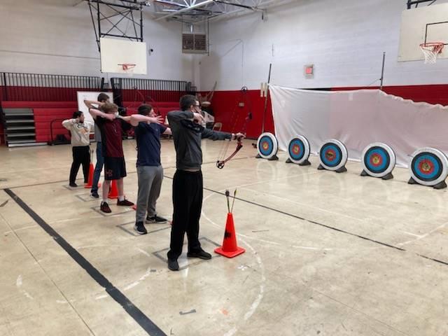 8th Grade Archery in PE