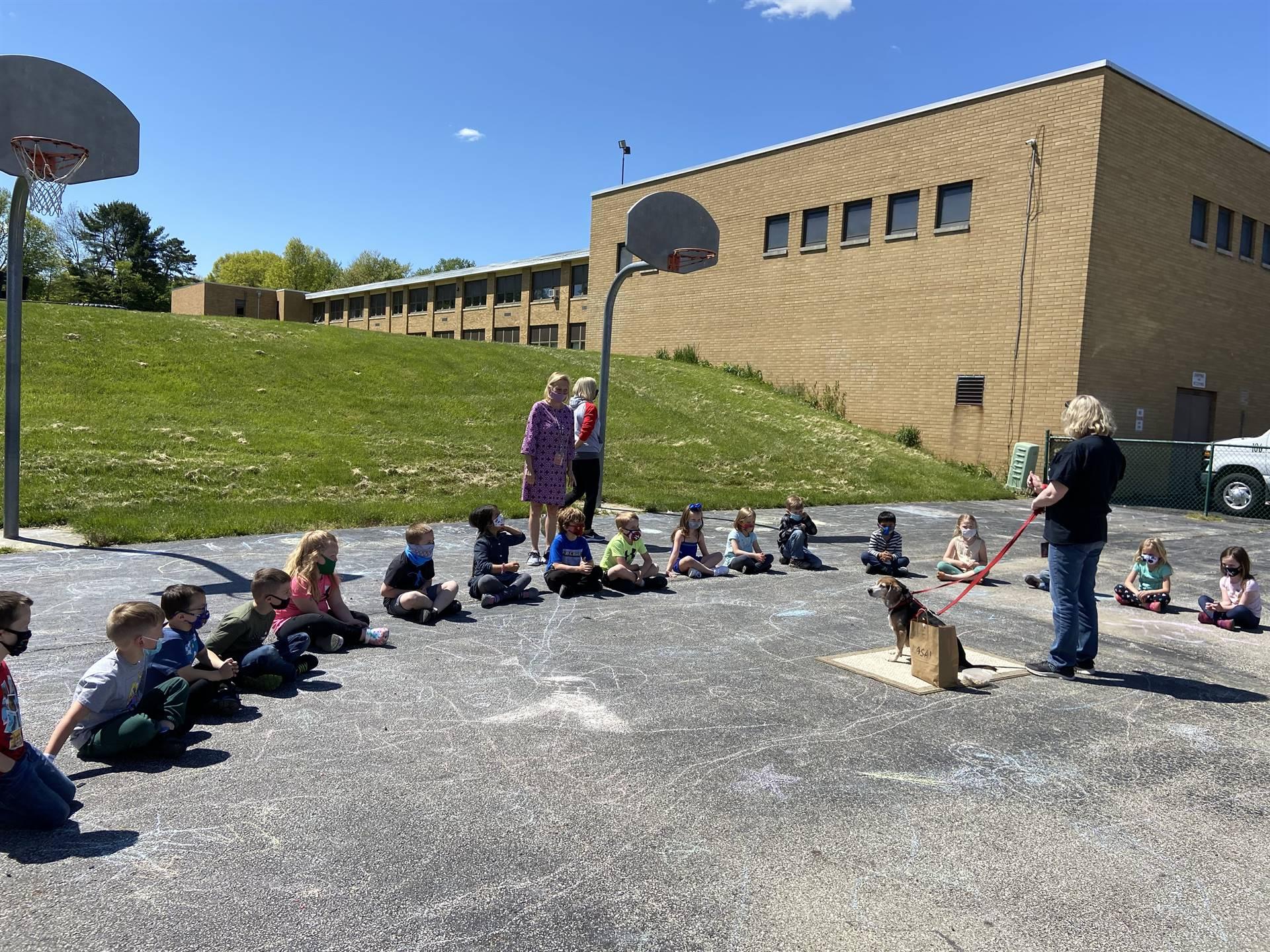 Kindergarten Students & Ralphie!